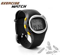 Спортивные часы + счетчик калорий + пульсометр Черный Серебристый Красный, фото 1