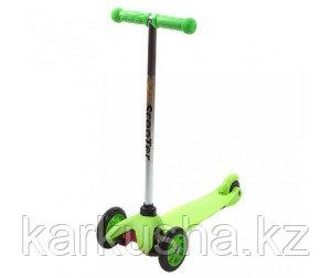 Самокат трехколесный 21st scooter maxi со светящимися колесами зеленый