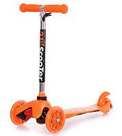 Самокат трехколесный 21st scooter maxi со светящимися колесами оранжевый
