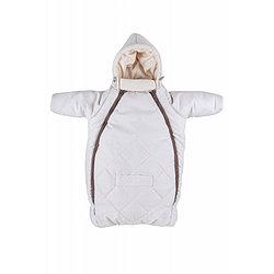 MAMMIE Конверт для новорожденного с капюшоном - Кремовый экозамша Осень Зима
