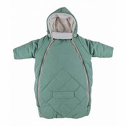 MAMMIE Конверт для новорожденного с капюшоном Мятный экозамша Осень Зима
