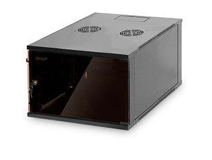 Шкаф настенный, SHIP, 602.5609.03.100, SQ серия, 19'' 9U, 540*600*445 мм, Ш*Г*В, IP20, Чёрный