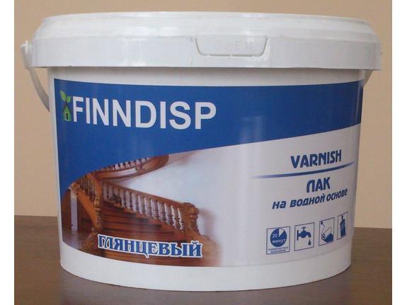 """Лак прозрачный, Finndisp """"Varnish""""."""