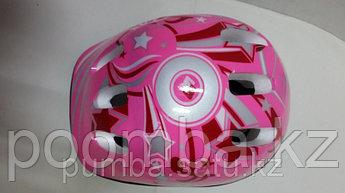 Защитная каска детская для катания на роликах розовая