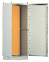 Hyperline TEFL-2266 Шкаф электрич.напольный, 2200х600х600мм (ВхШхГ), стальн.каркас, одностворч.перед.дверь,