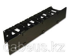 """Siemon RS-RWM-2 19 """" горизонтальный односторонний кабельный органайзер без крышки,2U, черный, для стоек RS"""