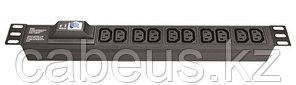"DKC / ДКС R519IEC8CBC14 Блок розеток для 19"" шкафов, 8 розеток IEC60320 С13, автомат защиты 1Р"
