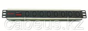 """DKC / ДКС R519IEC8AMC14 Блок розеток для 19"""" шкафов, 8 розеток IEC60320 С13, амперметр"""