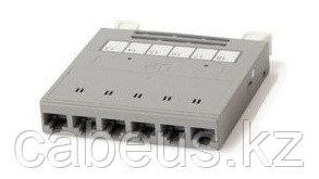Hyperline PPTR-CSS-1-6xRJ45-C6A-SH-STL Кассета для медных претерминированных решений, 6 экранированных портов