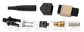 Hyperline MTPM-MM-GR-3RD Коннектор MTP(папа), многомодовый, для круглого кабеля 3 мм, зеленый колпачок