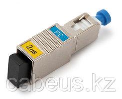 Hyperline ATT-SC-SC-PC-2dB Аттенюатор волоконно-оптический SC-SC, UPC, 2dB