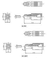 Hyperline ATT-SC-SC-APC-7dB Аттенюатор волоконно-оптический SC-SC, APC, 7dB