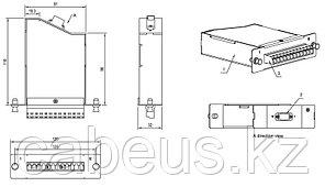 Hyperline FO-CSS-W120H32-504-1MTPM-12LC-AQ Волоконно-оптическая кассета 1xMTP (папа), 120x32 мм, 12LC