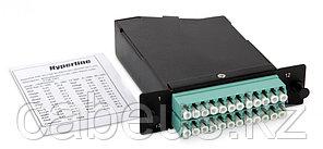 Hyperline FO-CSS-W120H32-503-2MTPM-24LC-AQ Волоконно-оптическая кассета 2xMTP (папа), 120x32 мм, 24LC адаптера