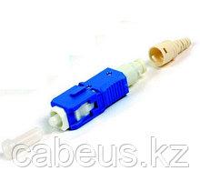 Siemon FC1-LB-SCU-9BL LightBow Коннектор SC/UPC simplex с заводской полировкой для полевой заделки, для