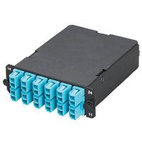 PANDUIT FCZ-12-10Y Волоконно- оптическая кассета QuickNet с разъемом МТР (папа), 12 волокон 50/125µm (OM4)