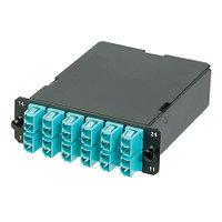 PANDUIT FCZ-24-10Y Волоконно-оптическая кассета QuickNet с разъемом 2 х МТР (папа), 24 волокна 50/125µm (OM4)