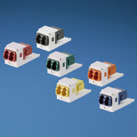 PANDUIT CMDHAQLCZIW Оптический модуль Mini-Com® с одним дуплексным коннектором LC (ключ H - аква), с