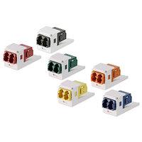 PANDUIT CMDHAQLCZEI Оптический модуль Mini-Com® с одним дуплексным коннектором LC (ключ H - аква), с