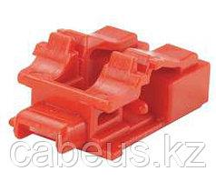 PANDUIT PSL-LCAB Блокирующее устройство для дуплесных адаптеров LC, в комплект входят 10 блоков (цвет красный)