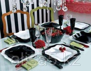 Сервиз столовый AUTHENTIC чёрно-белый 19 предметов