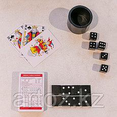 Шкатулка с домино, картами и кубиками  Resin Box With Dices Cards And Dominos, фото 3