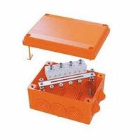 DKC / ДКС FSB11404 Коробка пластиковая FS с кабельными вводами и клеммниками, IP55,100х100х50мм, 4р, 450V,6A,