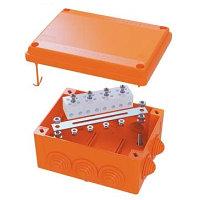 DKC / ДКС FSB31404 Коробка стальная FS с кабельными вводами и клеммниками, IP55,150х150х80мм,4р, 450V,6A,