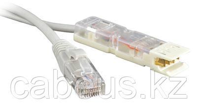 Hyperline PC-110-RJ45-2P-T-1M-LSZH-GY Патч-корд 110 тип-RJ45, 2 пары, USOC, LSZH, 1 м, серый