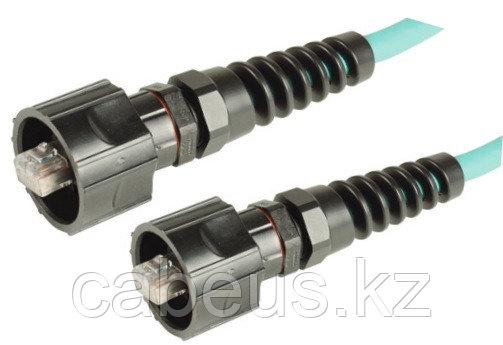 Siemon XC5-01M Патч-корд промышленный UTP, категория 5e, IP66/IP67 (индустриальная вилка RJ-45 на обоих концах), PVC, 1 м, синий