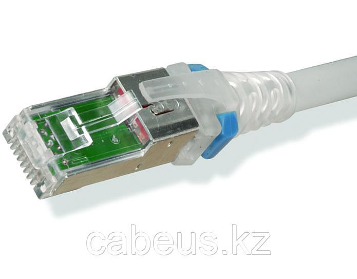 Siemon ZM6A-S03M-02B Z-MAX Патч-корд S/FTP, категория 6A, 26AWG, RJ45-RJ45, T568A/B, CM LSOH, 3 м, белый, прозрачные колпачки (из уп. 100 шт., без