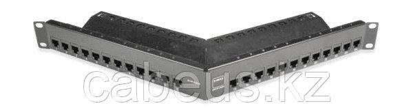 Siemon Z5S-PNLA-24K Патч-панель угловая экранированная ZMAX кат.5e, 24 порта, с модулями,1U, черная