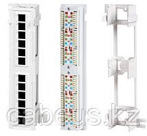 Hyperline PPW-12-8P8C-C5e Патч-панель настенная, 12 портов RJ-45(8P8C), категория 5е, с подставкой