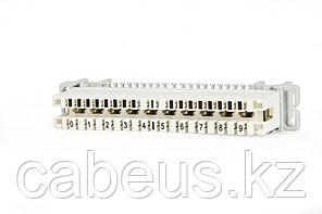 Hyperline KR-PLP-10-BRK-1 Плинт размыкаемый, на 10 пар, нормальнозамкнутый , для крепления на штанге, маркировка 1-0