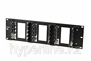 """Hyperline KR-19-FRAME-FL-150 Рама 19"""" для крепления 15 плинтов для телефонии, 3U"""