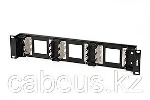 """Hyperline KR-19-FRAME-CON-90 Рама 19"""" для крепления 9 плинтов для телефонии, 2U, углубленная"""