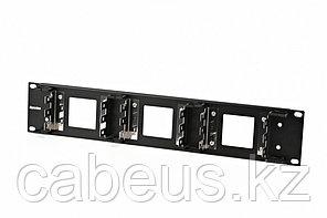 """Hyperline KR-19-FRAME-FL-90 Рама 19"""" для крепления 9 плинтов для телефонии, 2U"""