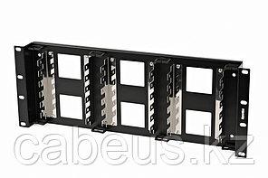 """Hyperline KR-19-FRAME-CON-180 Рама 19"""" для крепления 18 плинтов для телефонии, 4U, углубленная"""
