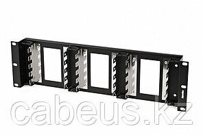 """Hyperline KR-19-FRAME-CON-150 Рама 19"""" для крепления 15 плинтов для телефонии, 3U, углубленная"""