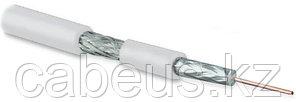 Hyperline COAX-SAT703N-WH-100 Кабель коаксиальный SAT703N, 75 Ом, жила - 17 AWG (1.13 mm, медь,solid), экран - фольга+оплетка (луженная медь, 45%),