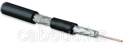 Hyperline COAX-SAT703N-BK-500 Кабель коаксиальный SAT703N, 75 Ом, жила - 17 AWG (1.13 mm, медь,solid), экран -