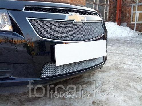 Защита радиатора Chevrolet Cruze chrome низ 2009-2013, фото 2