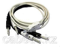 Krone 6624 2 061-00 Контрольный шнур 2/2, 2 пол., 2-контактный, со штекером LSA-PLUS и двумя штекерами типа
