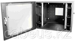 Siemon WC2-P101-12 Шкаф настенный, шириной 736 мм, глубиной 610 мм , дверь из плексигласа с замком, черный,