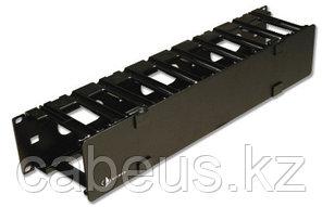 Siemon RS3-RWM-2 Горизонтальный односторонний кабельный органайзер, черный,2U, в стойку RS3