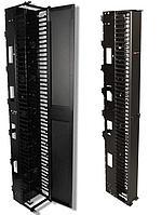 Siemon VPCA-12 Вертикальный канал коммутации 2,1 м x 305 мм (включает переднюю крышку,12 тыльных кабельных держателя и крепеж), черный