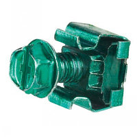 PANDUIT CNBK Заземляющая закладная гайка #12-24 и заземляющий винт #12-24 х 12,7 мм, зеленого цвета (50 винтов