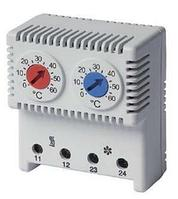 DKC / ДКС R5THRV13 Сдвоенный термостат, диапазон температур для NC контакта: 10-50°C; для NO: 20-80°C