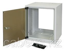 "ZPAS WZ-3661-01-02-011 Шкаф настенный 10"" серия SKI2, 7U, 355х310х260, уст. размер 236 мм, со стеклянной дверью, цвет серый (RAL 7035)"
