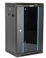 Hyperline TDC-9U-GR-RAL9004 Шкаф настенный 10'', 9U, 480х370х300, уст. размер 254 мм, со стеклянной